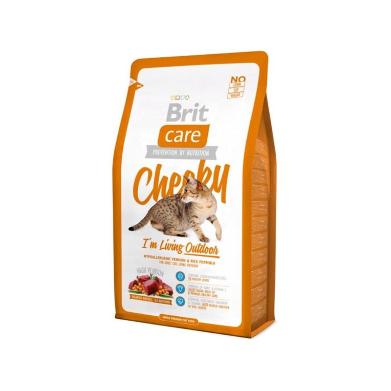 Brit Care (Брит Кеа) Cat Cheeky. Сухой корм с олениной и рисом для кошек, живущих на улице
