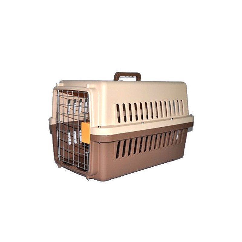 Пластиковая переноска для собак (кеннел) с железной дверью IATA (для KLM)