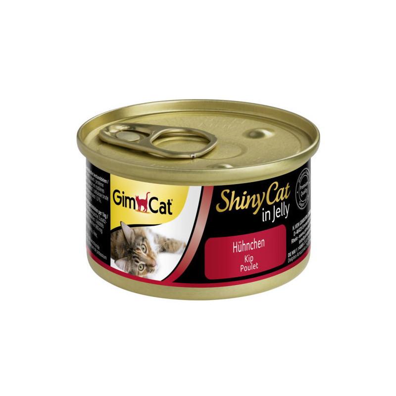 GimCat (ДжимКэт) ShinyCat - Консервированный корм с курицей для кошек