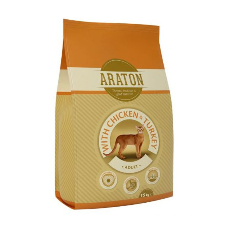 Araton (Аратон) Adult Chicken & Turkey - Сухой корм с курицей и индейкой для взрослых котов