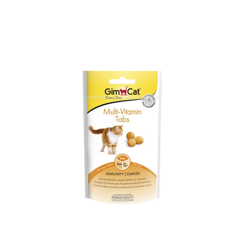 GimCat (ДжимКэт) Every Day Multi-Vitamin Tabs - Таблетки для взрослых котов и кошек