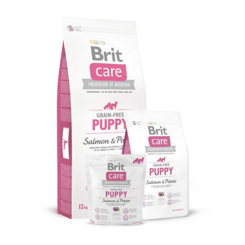 Brit Care (Брит Кеа) Grain-free PUPPY Salmon & Potato (д/щенков всех пород)