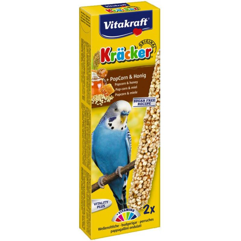 Крекер VITACRAFT для волнистых попугаев с попкорном и мёдом