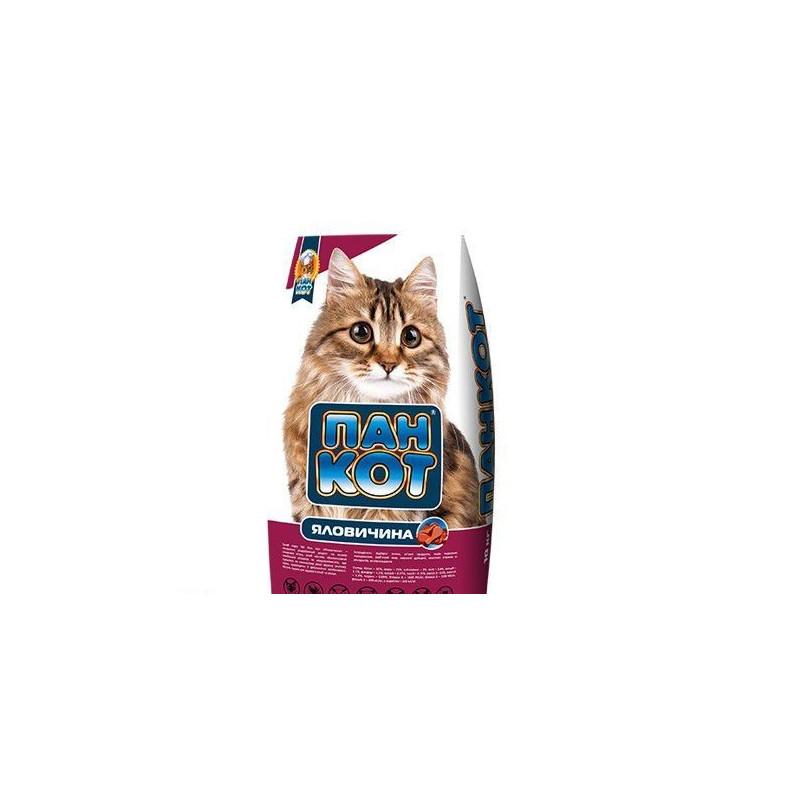 Пан Кот ГОВЯДИНА - Сухой корм для взрослых котов и кошек с говядиной