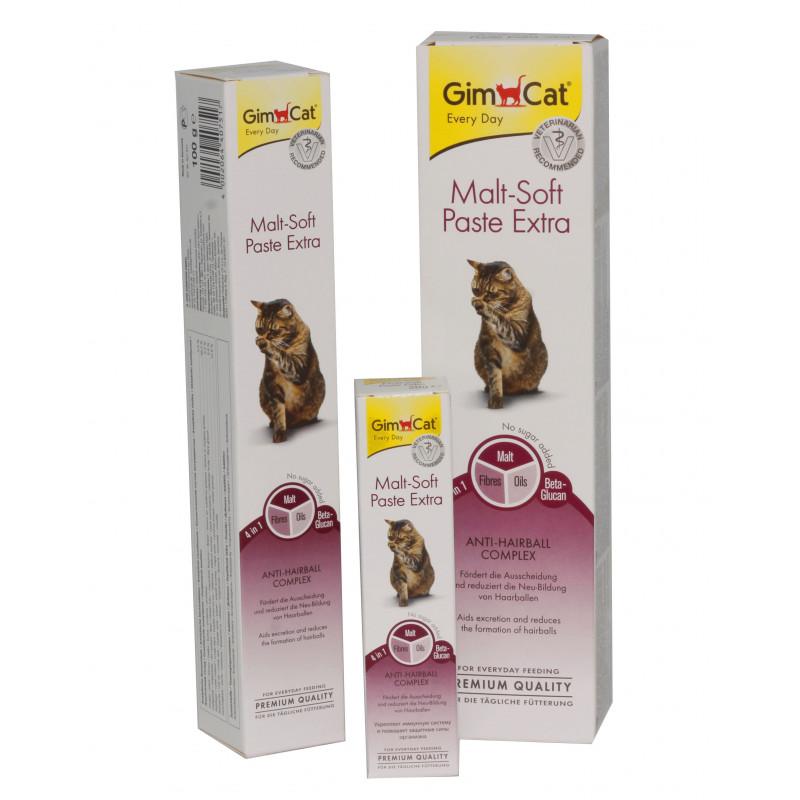 GimCat (Джим Кэт) Malt-Soft Paste Extra - Паста для выведения шерсти и улучшения моторики желудка у кошек