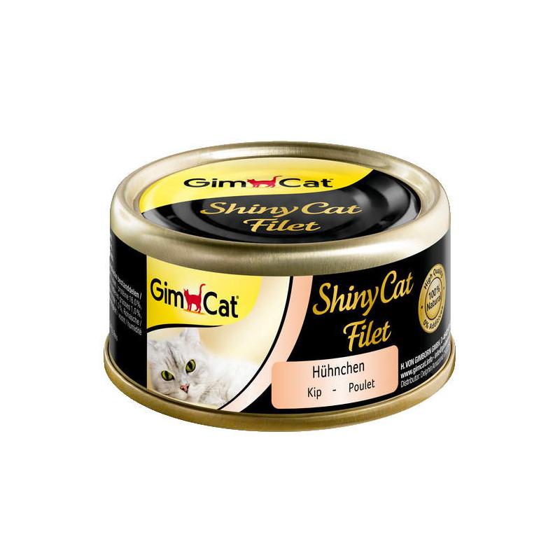 GimCat (ДжимКэт) ShinyCat Filet - Консервированный корм с филе курицы для котов
