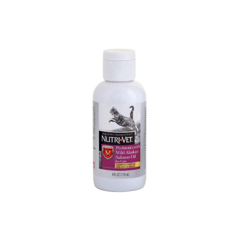 Nutri-Vet Probiotics Salmon Oil добавка с пробиотиками и маслом лосося
