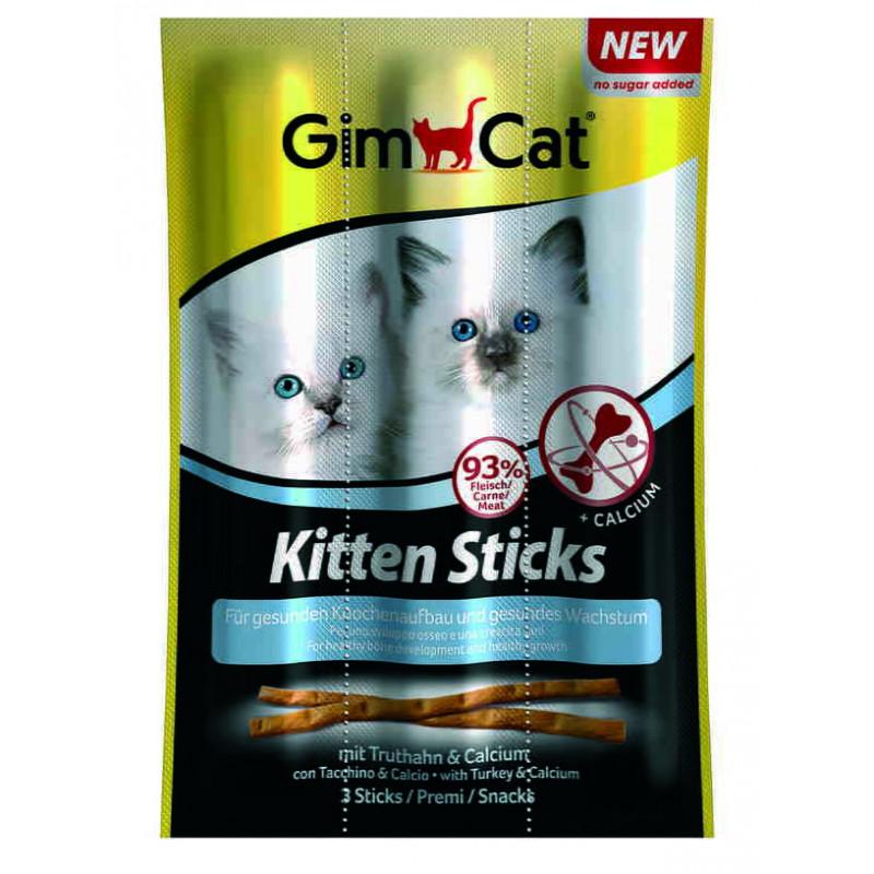 GimСat (ДжимКэт) Kitten Sticks. Лакомство с индейкой и кальцием для котят