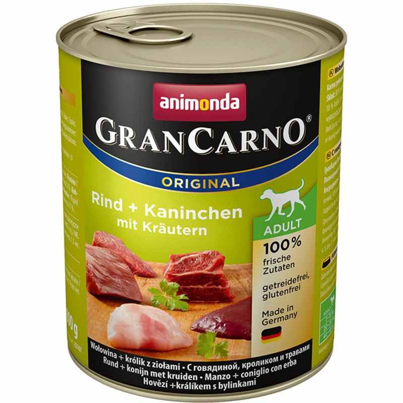 Animonda (Анимонда) Gran Carno Adult - Консервированный корм с кроликом и травами для взрослых собак (кусочки в соусе)
