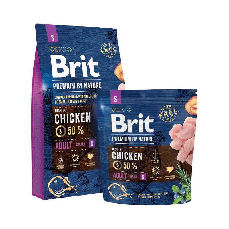 Корм Brit Premium by Nature (Брит Премиум) ADULT S для взрослых собак мелких пород