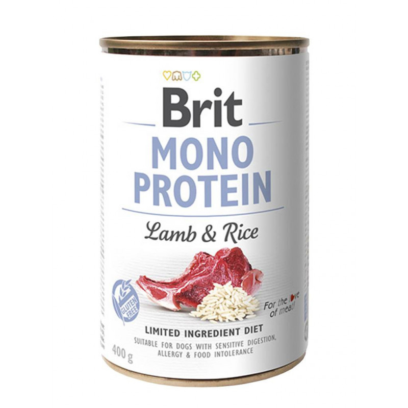 Brit (Брит) Mono Protein Lamb & Rice Консервы для собак с ягненком и рисом