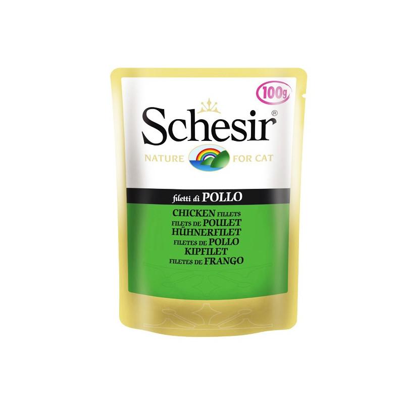 Schesir (Шезир) Chicken Fillet - Консервированный корм с куринным филе для взрослых котов и кошек