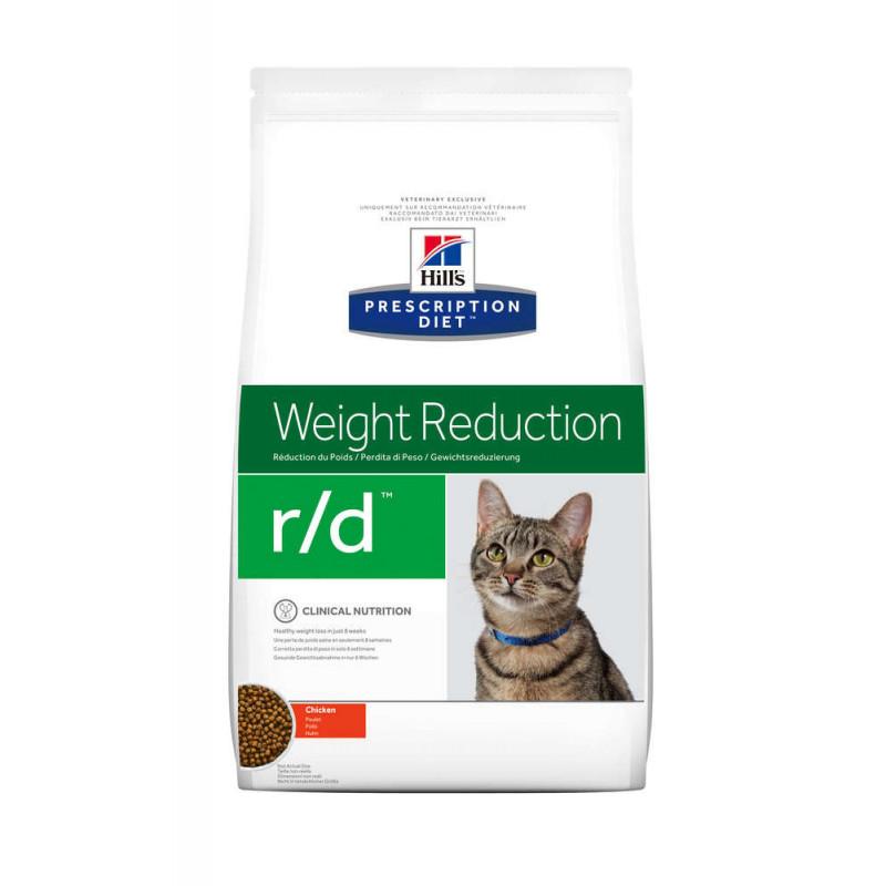 Hill's (Хиллс) Prescription Diet r/d Weight Reduction - Корм-диета для кошек курицей СНИЖЕНИЕ ВЕСА