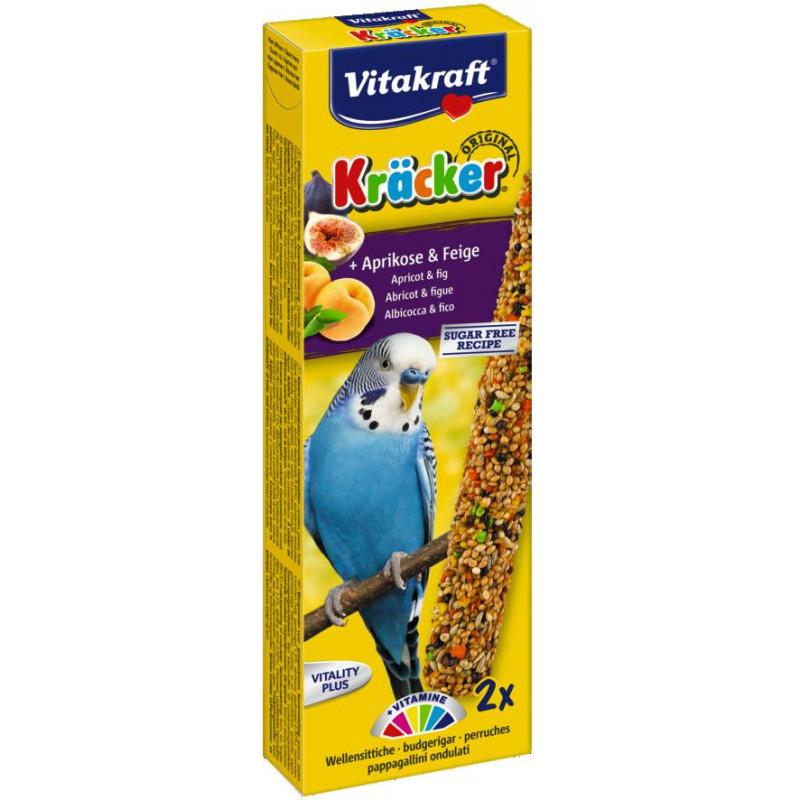 Крекер VITACRAFT для волнистых попугаев с курагой и инжиром