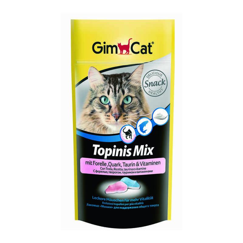 GimCat (ДжимКэт) Topinis Mix - Витаминные мышки с таурином и форелью