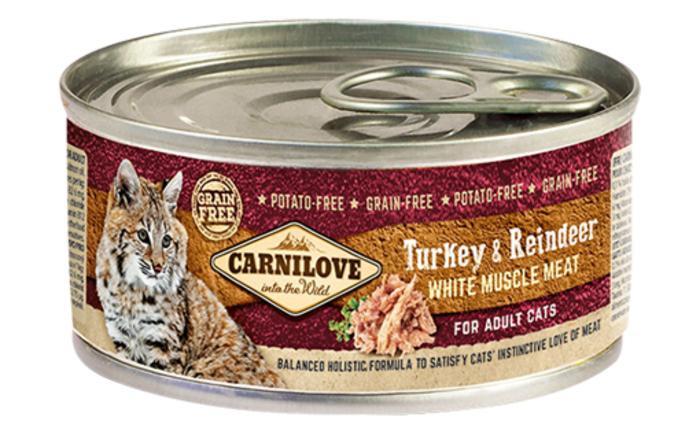 Влажный корм Carnilove (Карнилав) Cat Turkey & Reindeer с индейкой и олениной