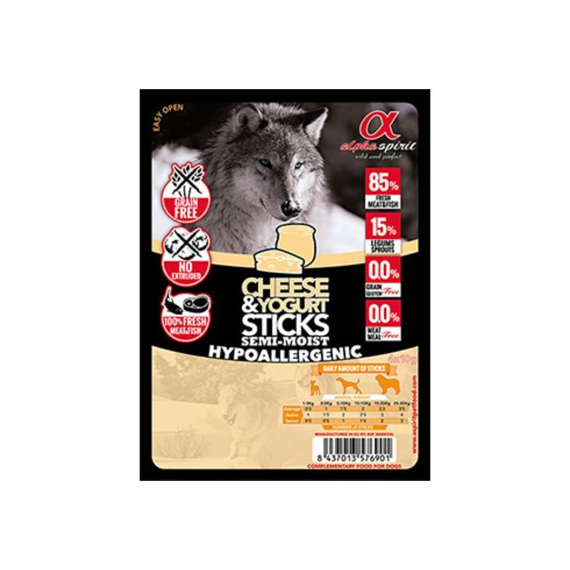 Alpha Spirit (Альфа Спирит) Sticks Cheese&Yogurt - полувлажное лакомство для собак, палочки с йогуртом и сыром