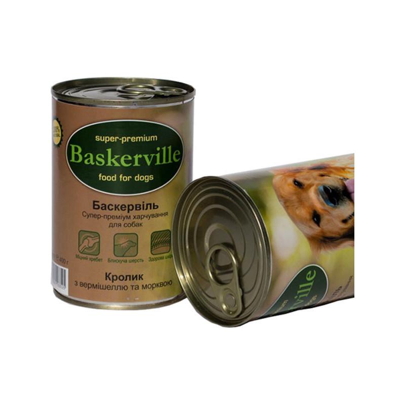 Консервы Baskerville кролик с вермишелью и морквой