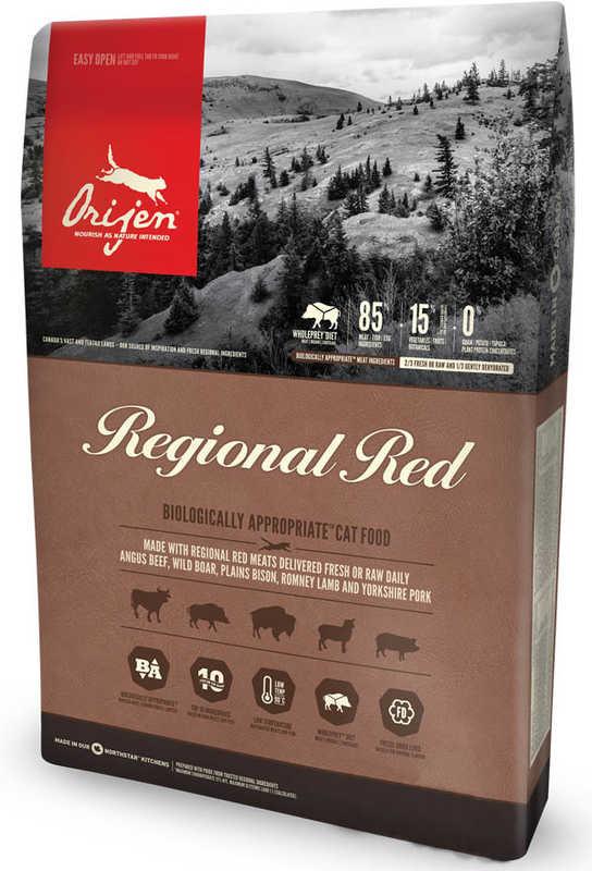 Orijen (Ориджен) Regional Red Cat - Сухой корм с бизоном и кабаном для кошек и котят