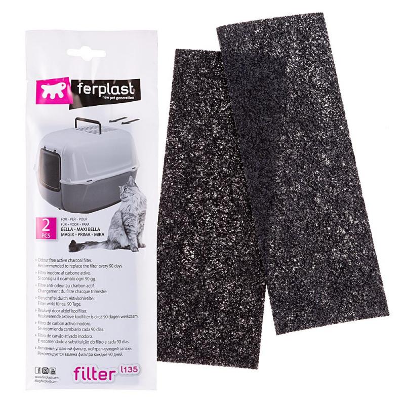 Ferplast (Ферпласт) L-135 - Фильтр сменный угольный для кошачьих туалетов (2 шт)