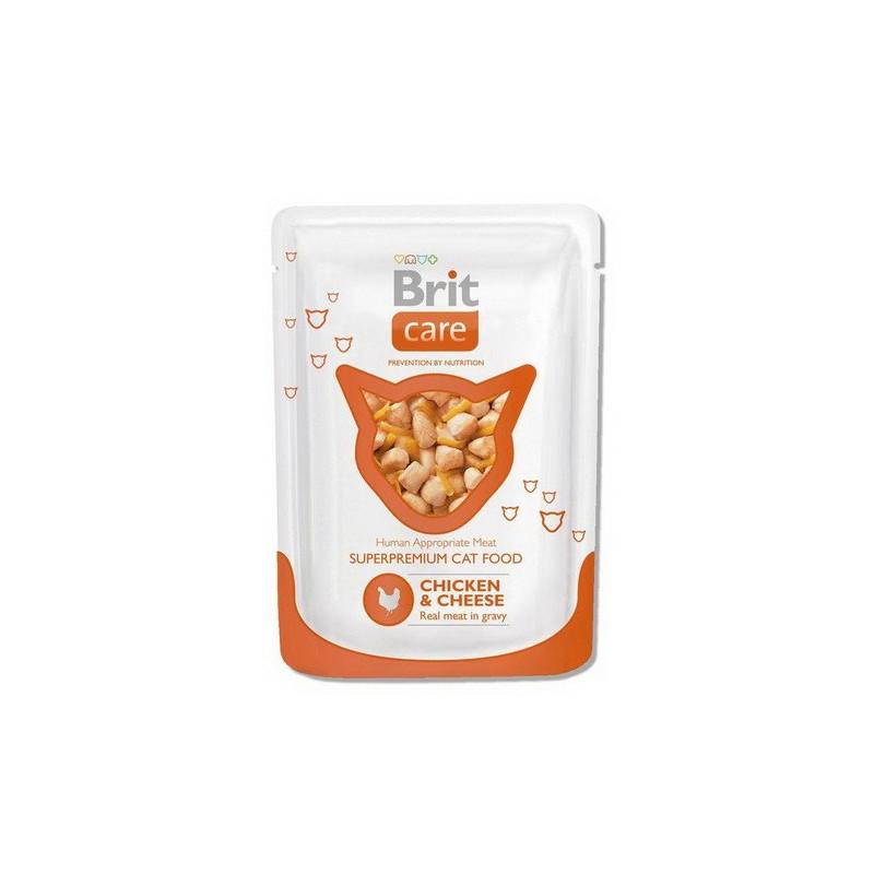Brit Care (Брит Кеа) Пауч с курицей и сыром для кошек