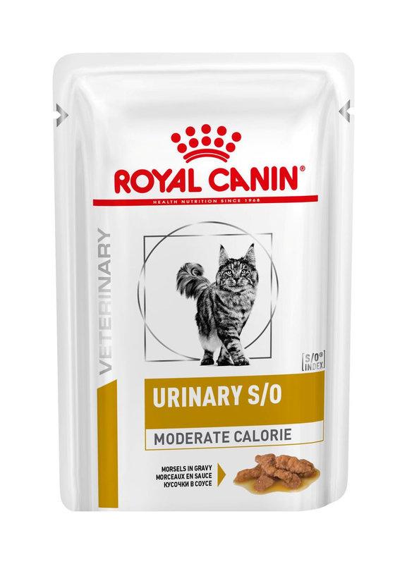 Royal Canin (Роял Канин) Urinary S/O Moderate calorie - Консервированный корм для стерилизованных котов при заболеваниях мочевыделительной системы (кусочки в соусе)