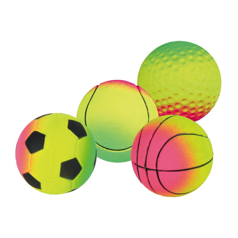 Trixie (Трикси) Мяч резиновый ассорти неон