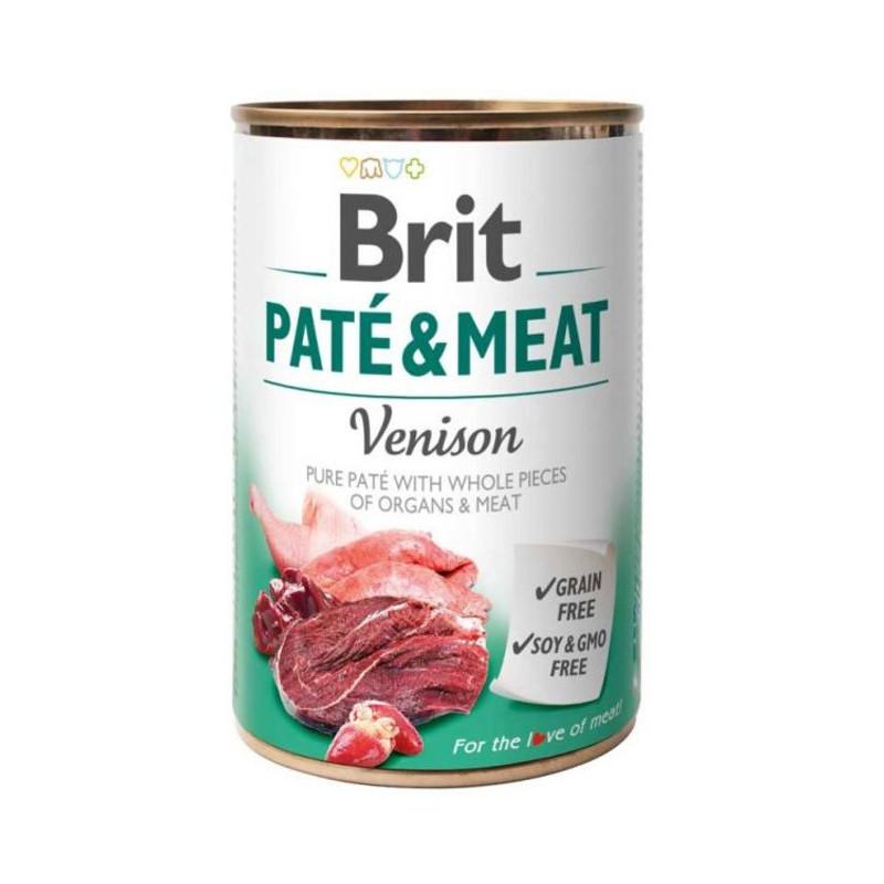 Brit (Брит) PATE & MEAT Venison - консервы для собак с олениной
