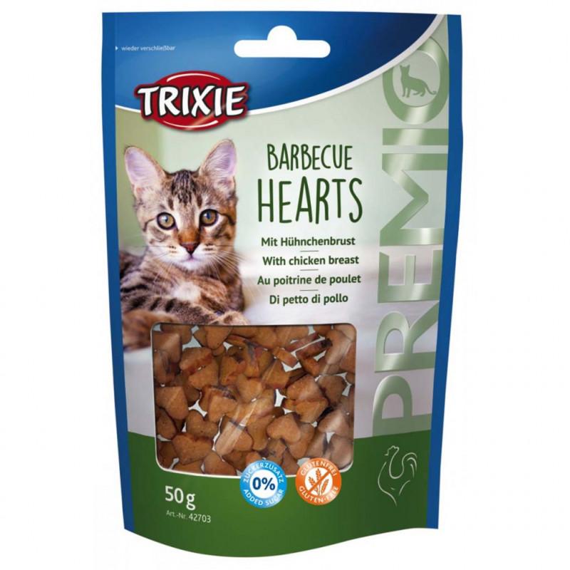Trixie (Трикси) PREMIO Barbecue Hearts. Лакомcтво с курицей для кошек
