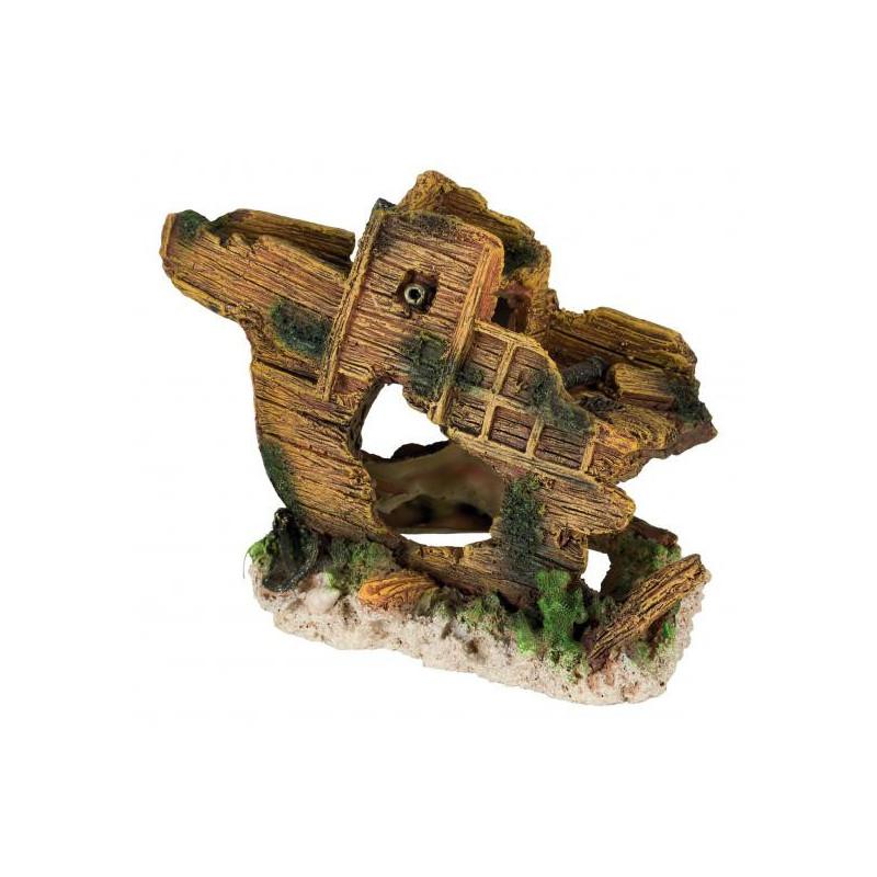 Trixie (Трикси) Decoration Shipwreck - Разбитый корабль для декора аквариума, 19 см