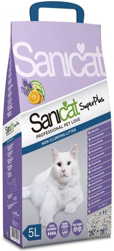 Sanicat (Саникет) Super Plus. Наполнитель супер впитывающий для кошачьих лотков
