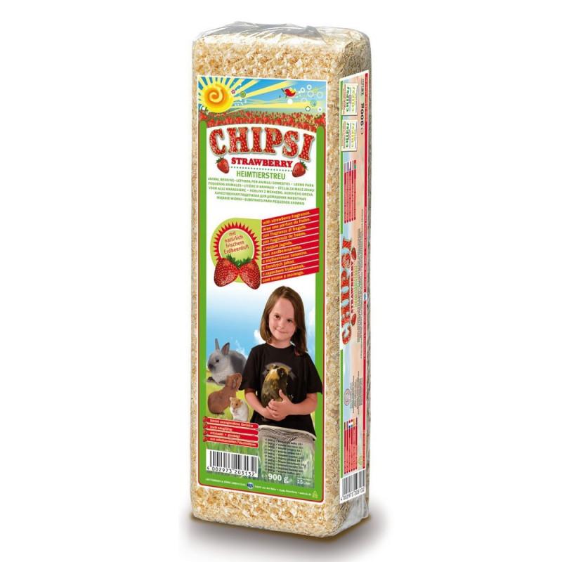 Опилки CHIPSI STRAWBERRY для грызунов с ароматом клубники