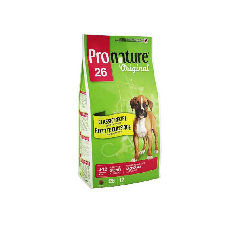 Pronature Original ЯГНЕНОК И РИС для щенков всех пород