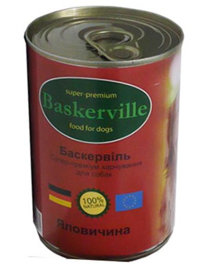 Baskerville (Баскервиль) - Консервы для собак с говядиной - Фото 2