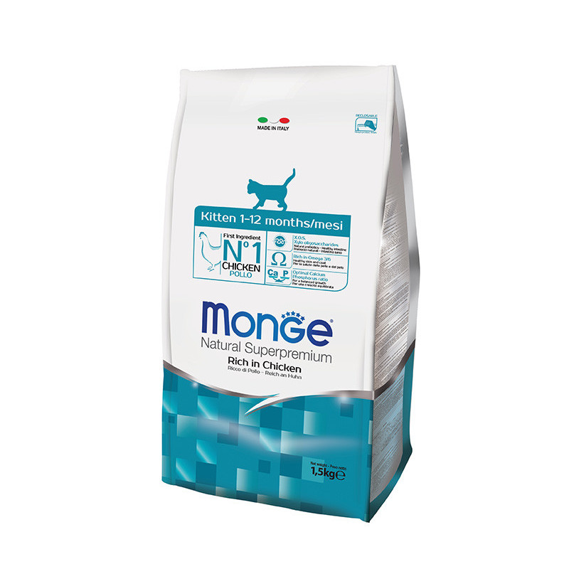 Monge (Монже) Kitten Rich in Chicken - Сухой корм с курицей для котят в возрасте от 1 до 12 месяцев