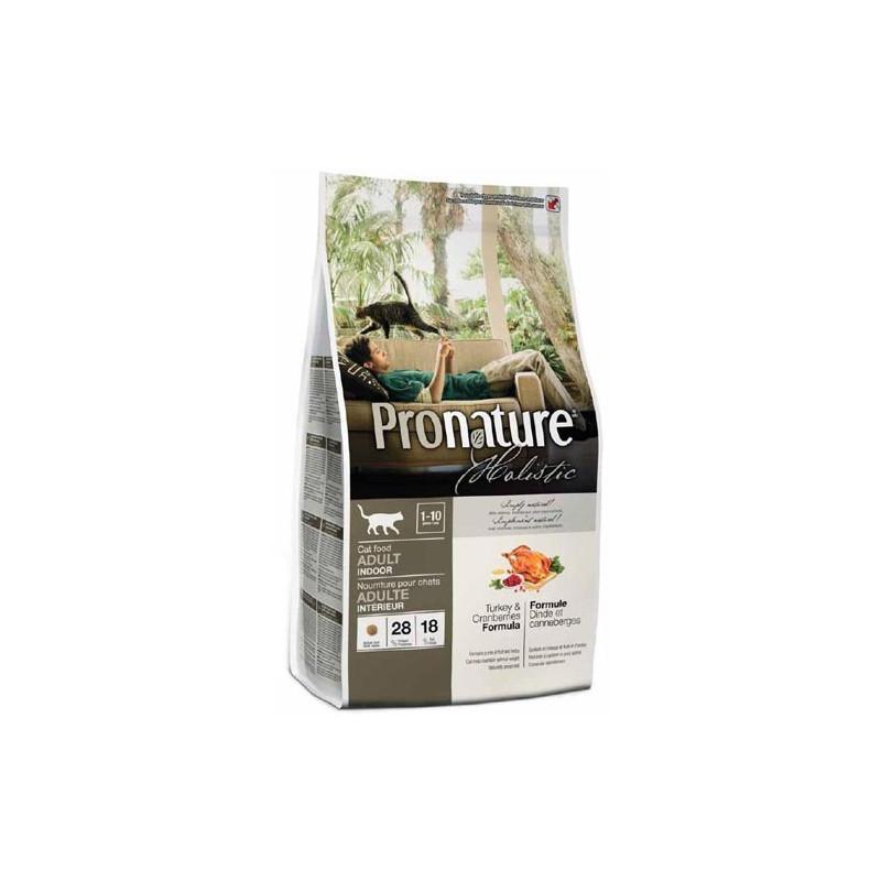 Pronature Holistic (Пронейчер Холистик). Сухой корм с индейкой и клюквой для взрослых кошек, живущих в помещении