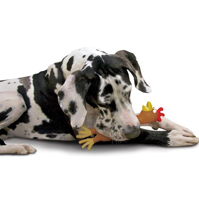 """Игрушка-пищалка для средних и крупных пород собак """"Утка Занни или Цыпленок Аст"""" - Фото 2"""