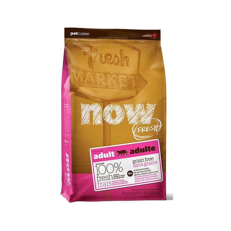 NOW FRESH™ (Нау Фреш) Grain Free Adult Cat Recipe - Сухой беззерновой корм с индейкой, уткой и лососем для взрослых кошек