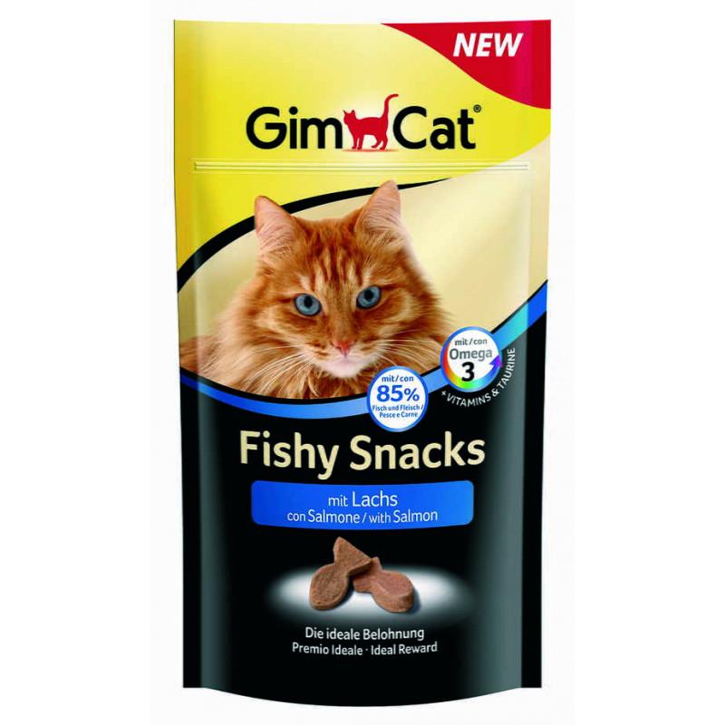 GimСat (ДжимКэт) Fishy Snacks - Лакомство с лососем и таурином для котов
