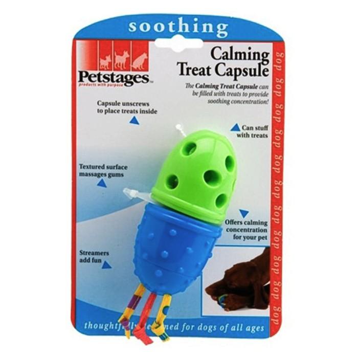 """PETSTAGES Calming Treat Capsule Игрушка для собак и щенков """"Капсула для лакомства"""" - Фото 3"""
