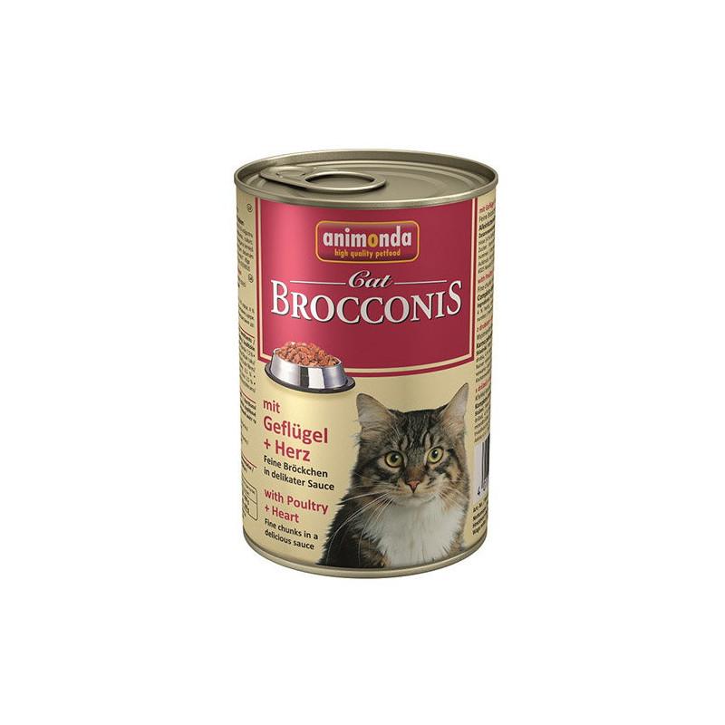 Animonda (Анимонда) Brocconis Cat - Консервированный корм с птицей и сердцем для взрослых кошек (кусочки в соусе)