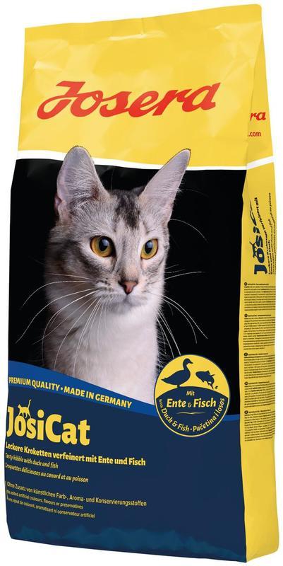 JosiCat (ЙозиКэт) by Josera Ente & Fisch - Сухой корм с уткой и рыбой для котов