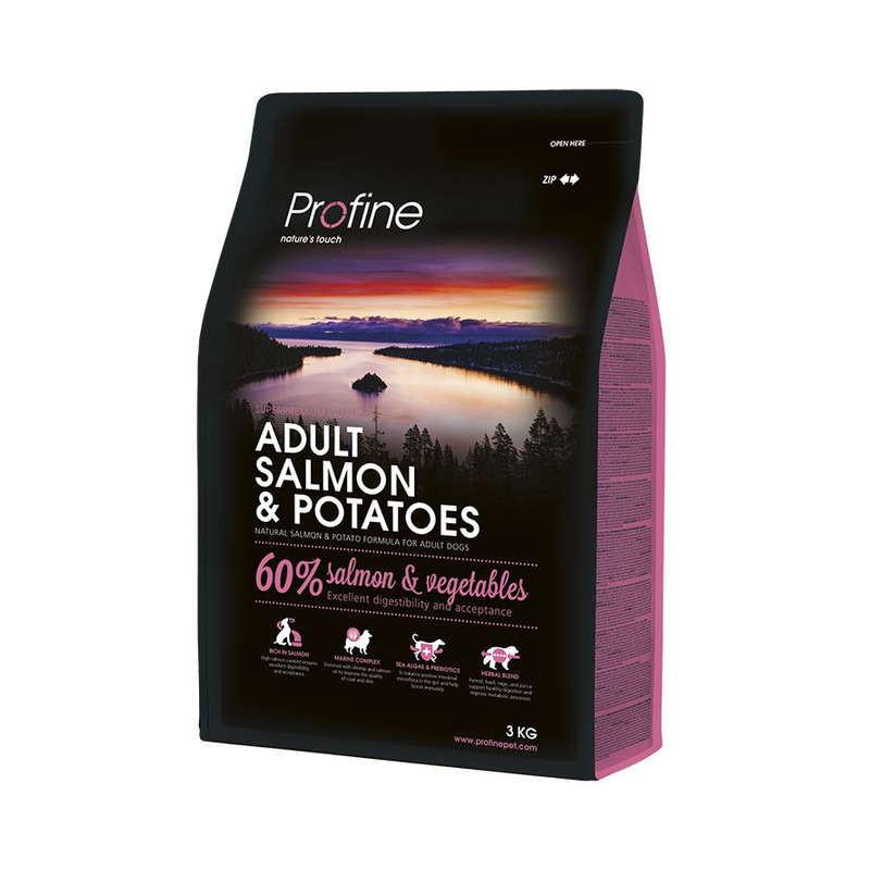 Profine (Профайн) Adult Salmon&Potatoes - Сухой гипоаллергенный корм для взрослых собак с лососем и картофелем