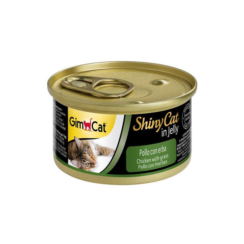 GimCat (ДжимКэт) ShinyCat - Консервированный корм с курицей и травой для кошек