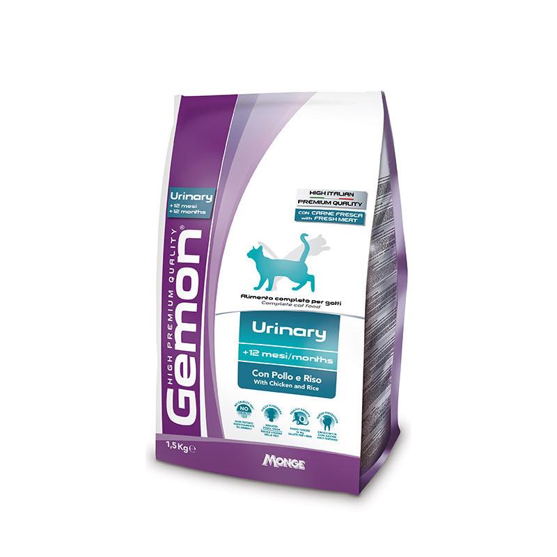 Gemon (Джемон) Urinary. Сухой корм с курицей и рисом для взрослых кошек, профилактика мочекаменной болезни
