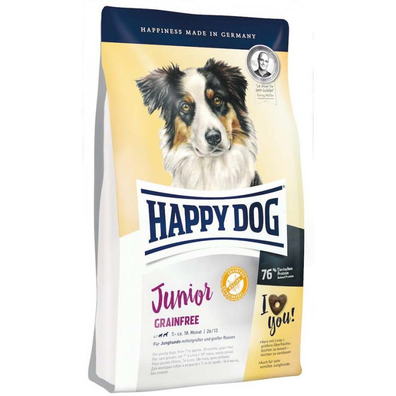 Happy Dog (Хеппи Дог) Junior Grainfree - Сухой беззерновой корм с картофелем и домашней птицей для молодых собак с чувствительным пищеварением