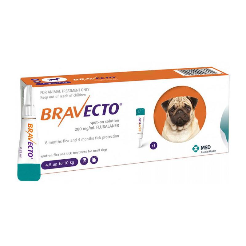 BRAVECTO (Бравекто) SPOT-ON - Капли от блох и клещей для собак весом от 4,5 до 10 кг