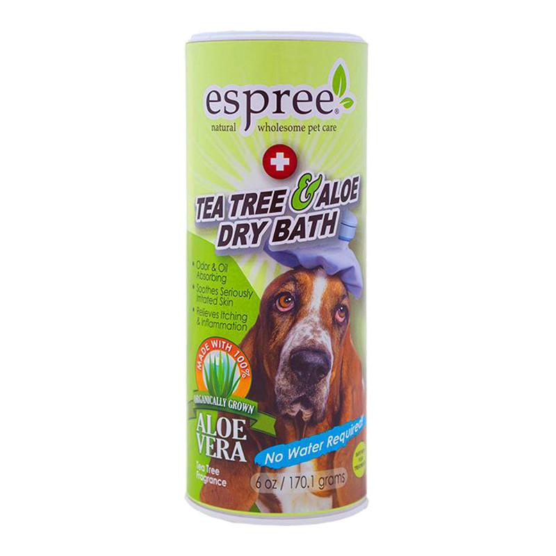 ESPREE (Эспри) Tea Tree & Aloe Dry Bath - Сухой шампунь с алоэ вера и маслом чайного дерева для собак