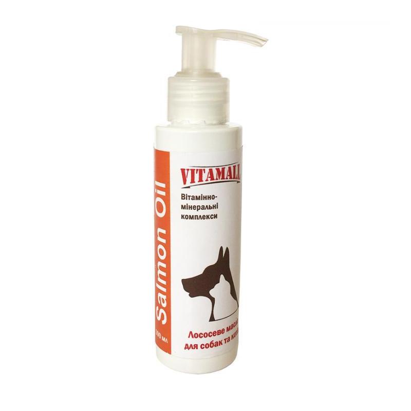 VitamAll (Витамол) Salmon Oil лососевое масло пищевая добавка для собак и кошек