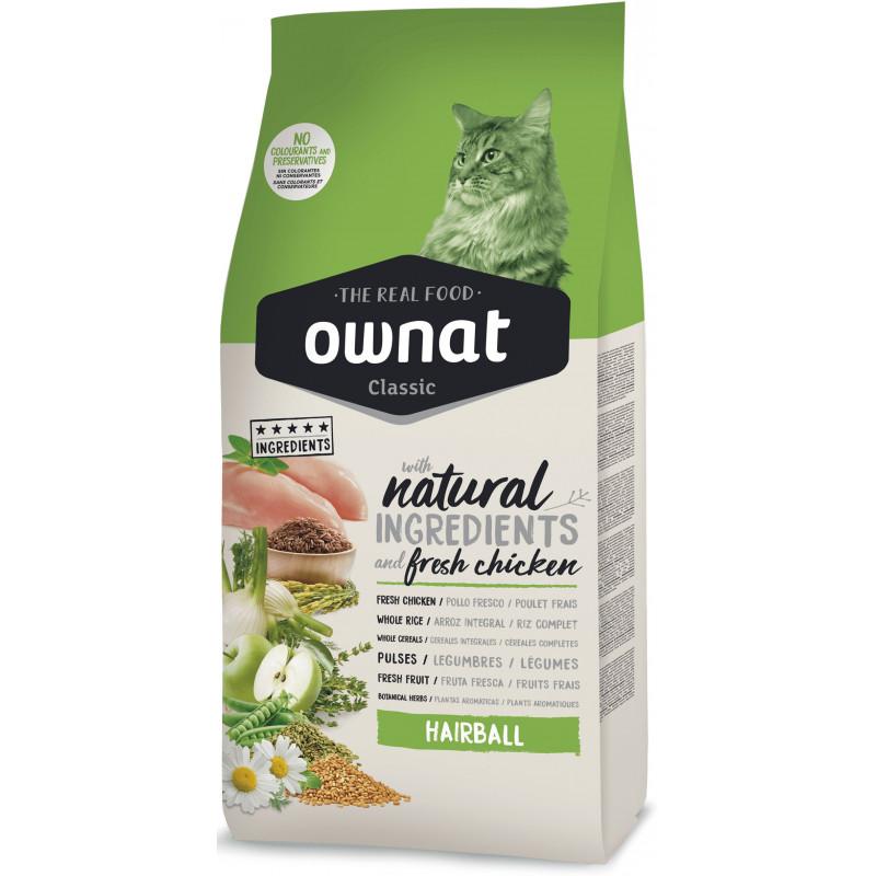 Ownat (Овнат) Hairball - Сухой корм с курицей для котов, способствующий выведению шерсти